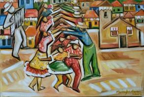 Marina Jardim -óleo sobre tela – 40 x 70 cm