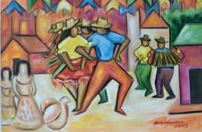 Marina Jardim -óleo sobre tela – 80 x 50 cm