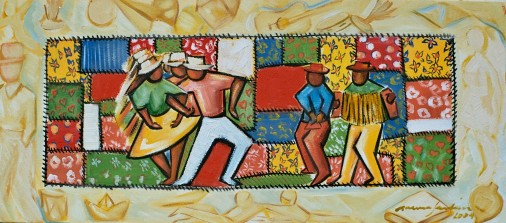 Marina Jardim -óleo sobre tela – 80 x 30 cm
