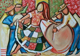 Marina Jardim -óleo sobre tela – 50 x 60 cm