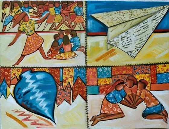 Marina Jardim -óleo sobre tela – 100 x 70 cm