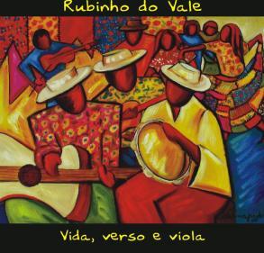 Capa do cd de Rubinho do Vale - tela de Marina Jardim