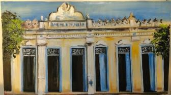 Marina Jardim – Casarão – óleo sobre tela – 40 x 70 cm