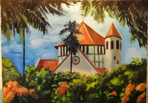 Marina Jardim – Igreja Jequitinhonha 1 – óleo sobre tela – 50 x 65 cm