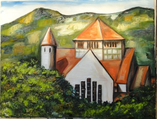 Marina Jardim – Igreja Jequitinhonha 2 – óleo sobre tela – 50 x 65 cm