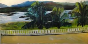 Marina Jardim – Vista do Hotel de Jequitinhonha – óleo sobre tela 40 x 80 cm