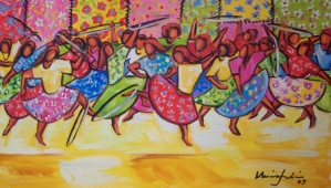 Marina Jardim - óleo sobre tela - 40 x 70 cm