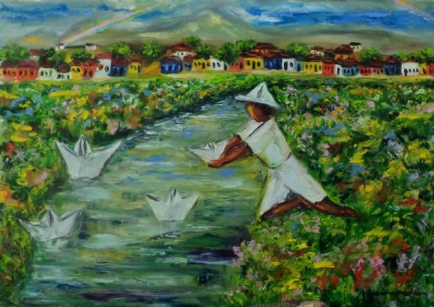 Marina Jardim - óleo sobre tela
