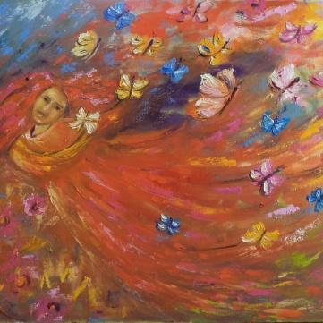Marina Jardim -óleo sobre tela