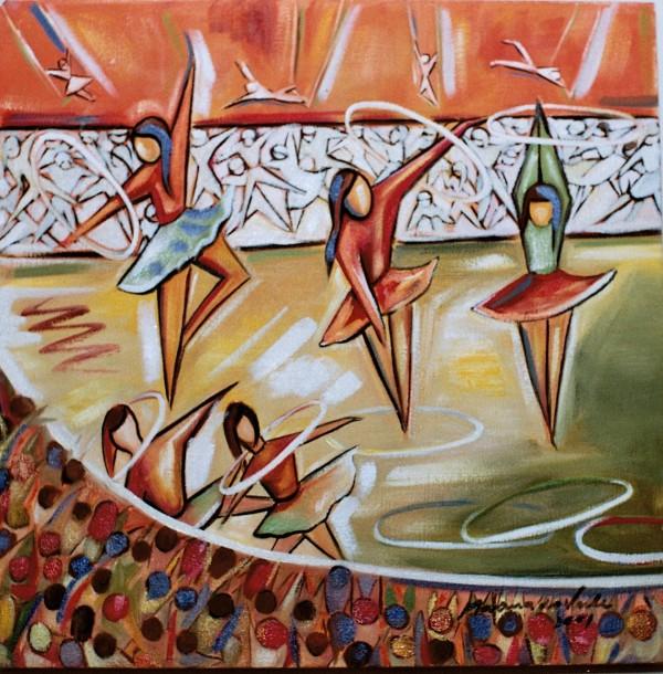 Marina Jardim - óleo sobre tela - 40 x 40 cm