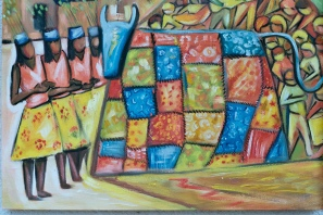 Marina Jardim -óleo sobre tela - 70 x 50 cm