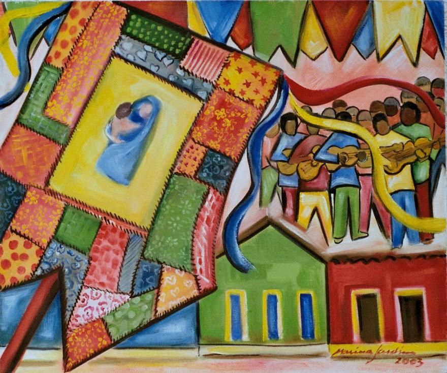 Marina Jardim - óleo sobre tela - 50 x 40 cm