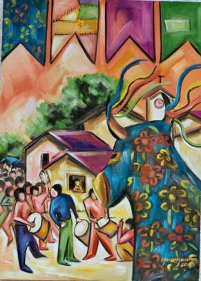 Marina Jardim - óleo sobre tela – 70 x 50 cm