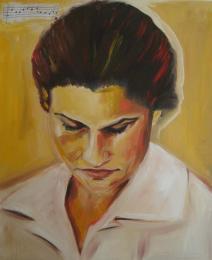 Marina Jardim - retratos - óleo sobre tela